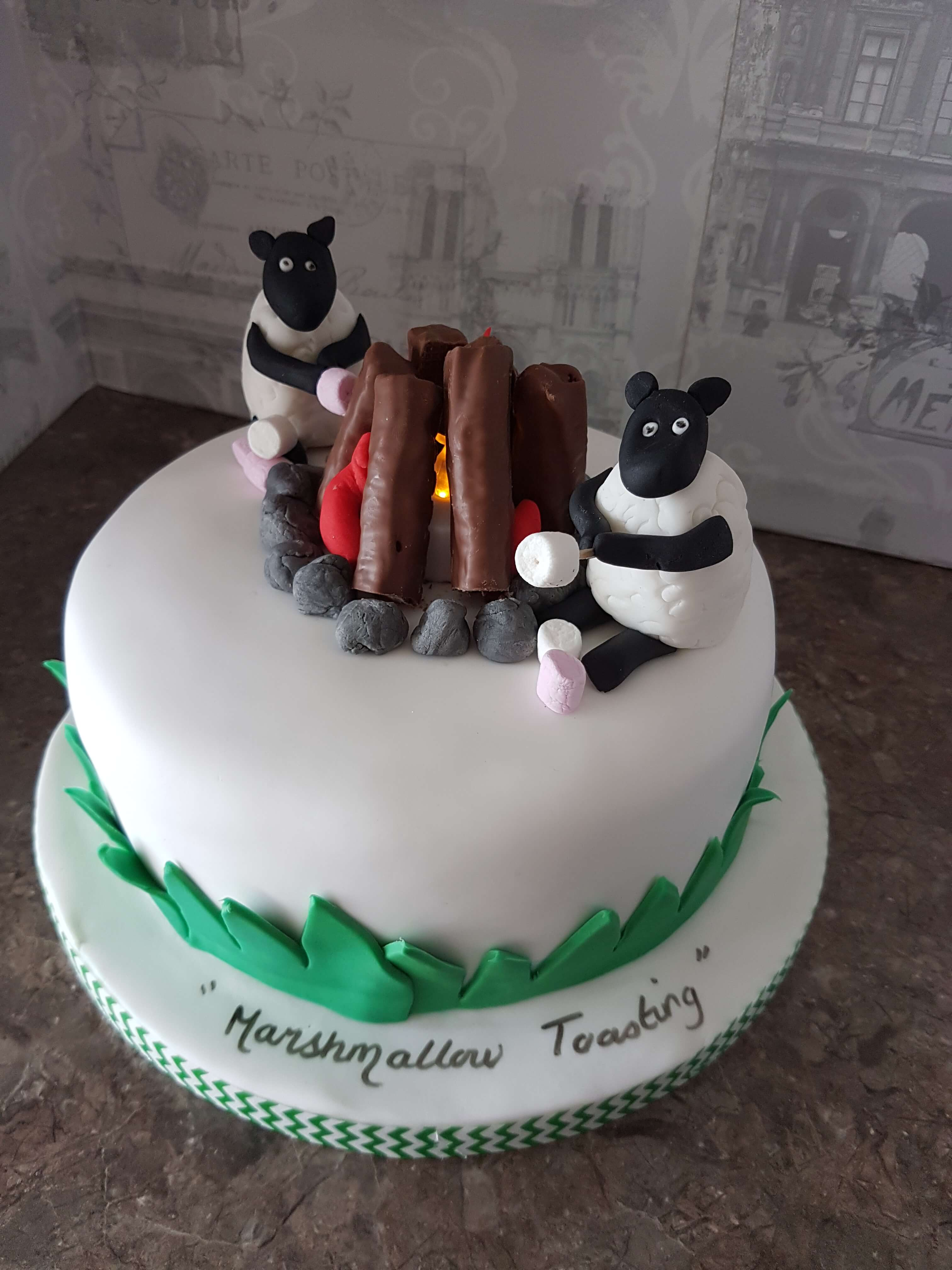 Ewe should try these Marshmallows Cake!