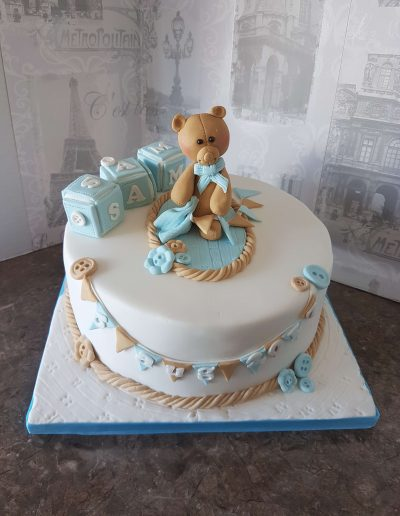 Little boys' Christening/Arrival Cake