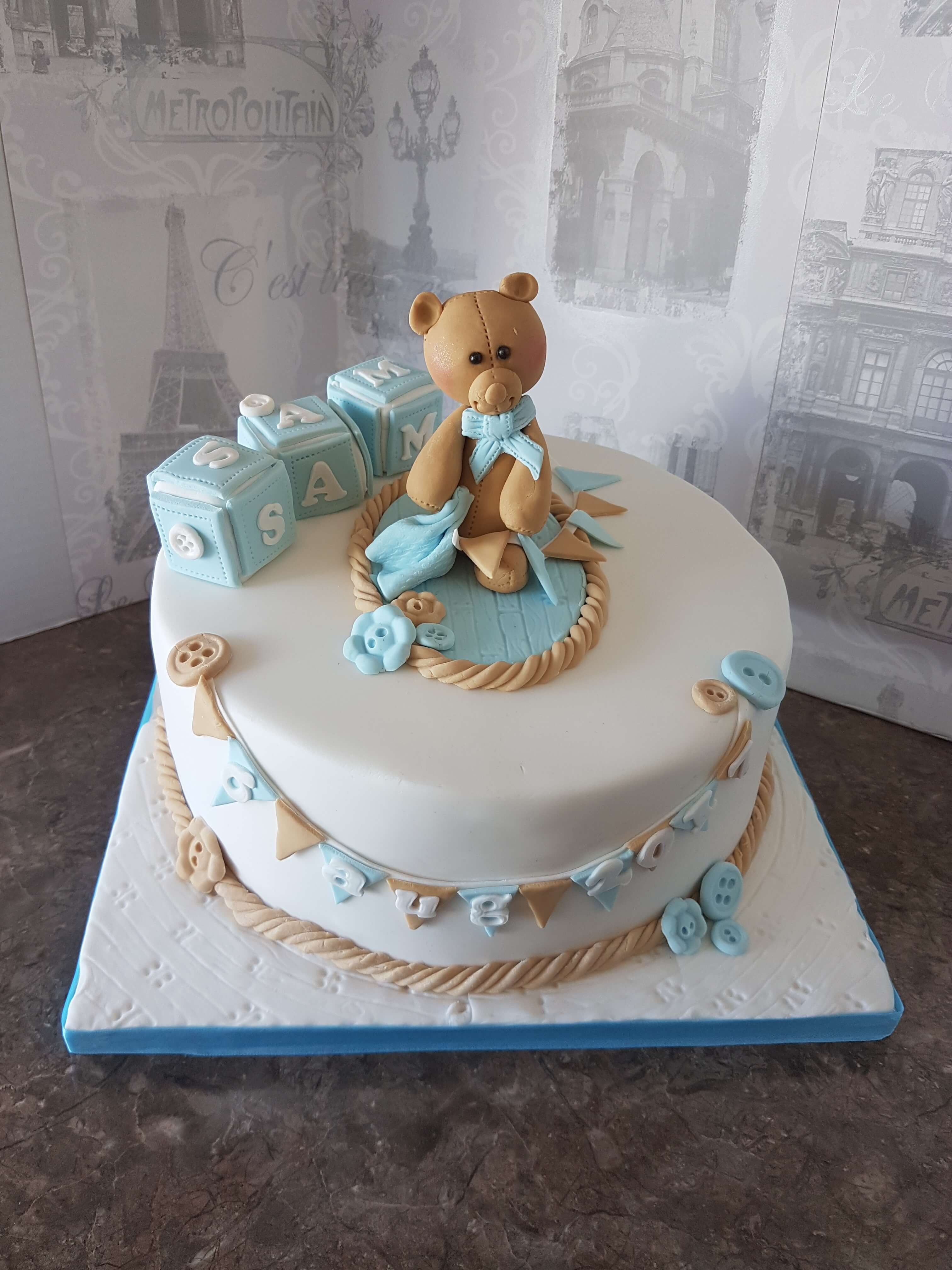 Little boys' Christening/Arrival Cake