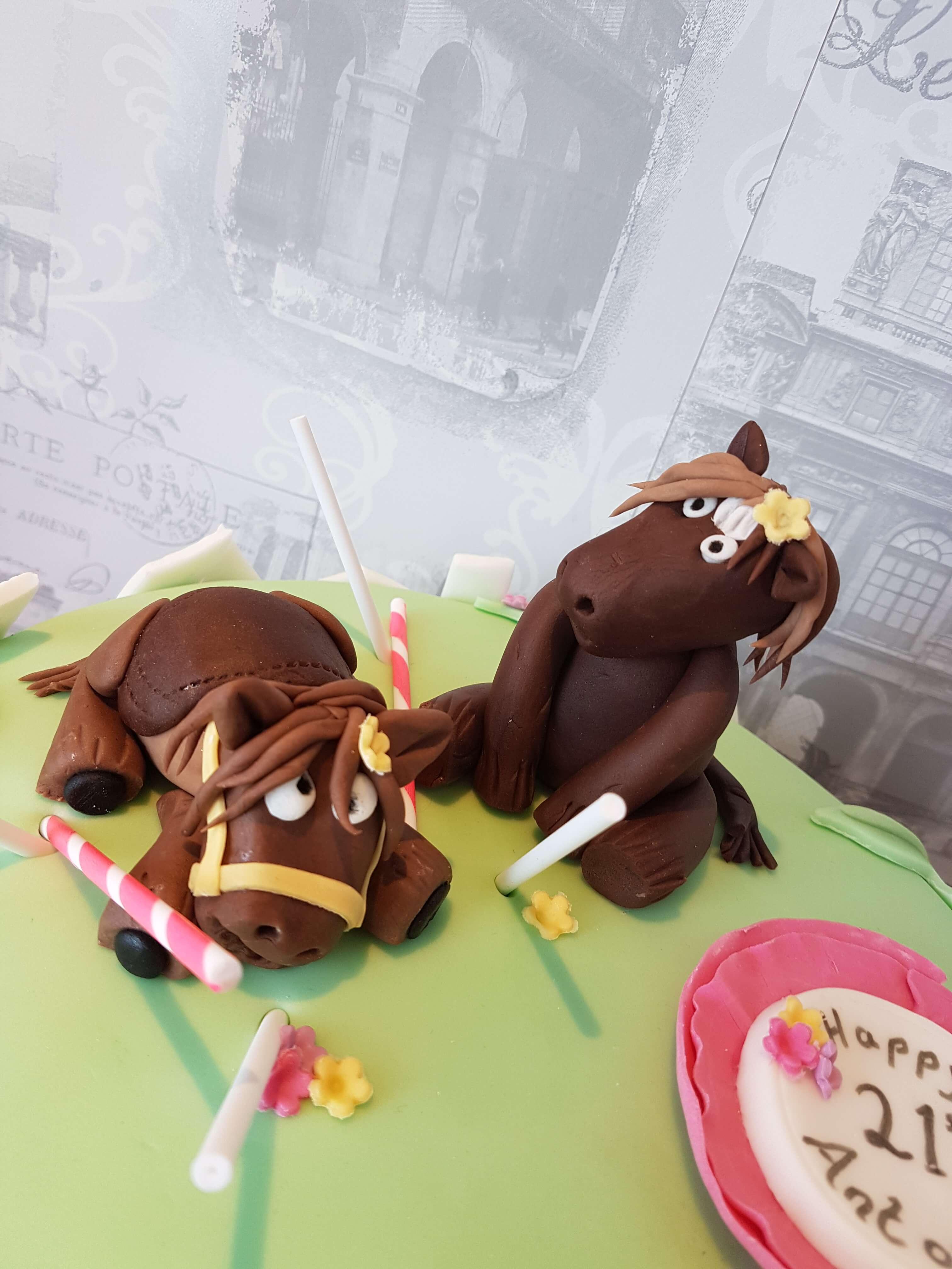 Frolicking Horses Happy Birthday Cake