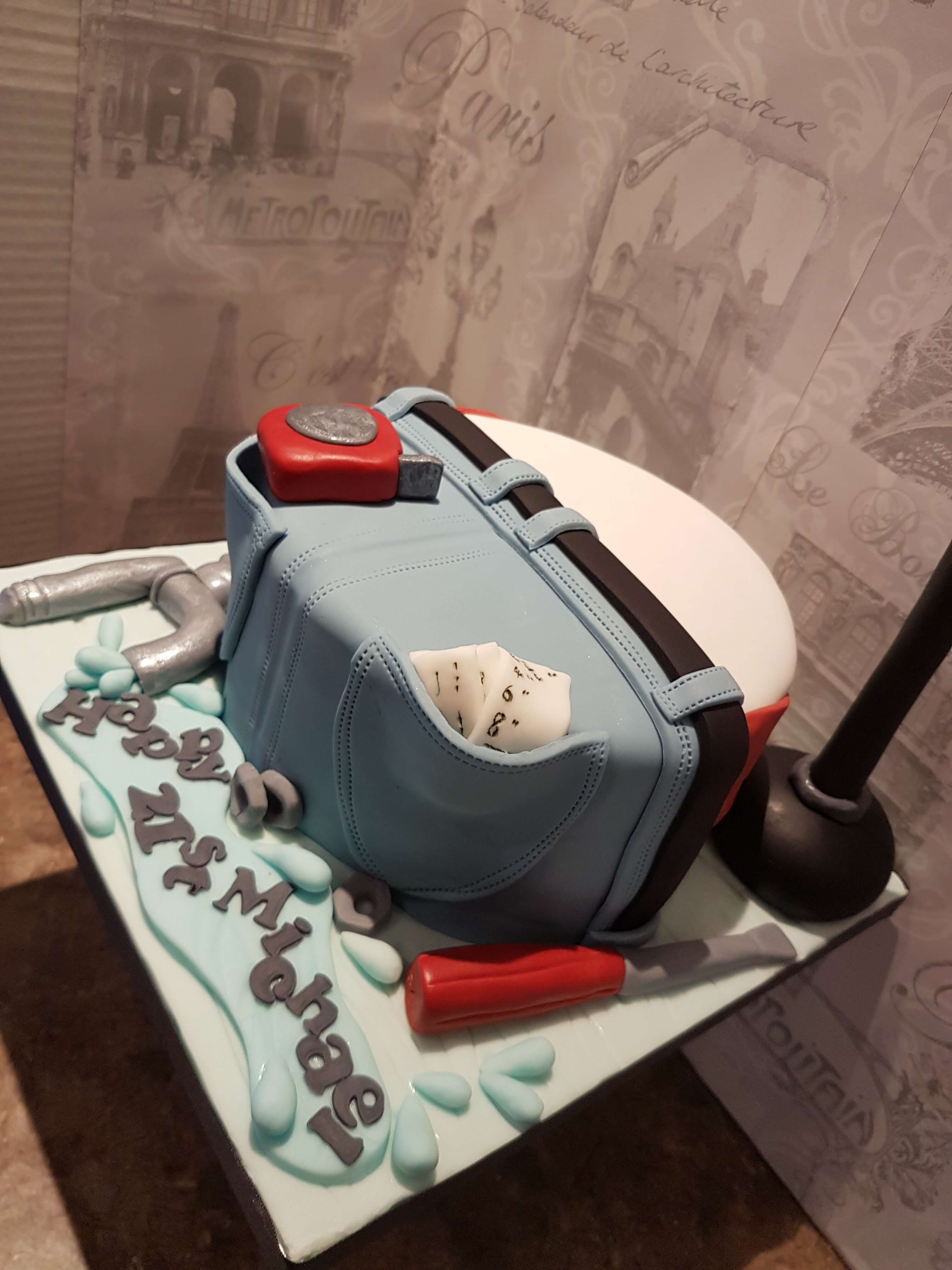 The Plunger & The Plumber Cake
