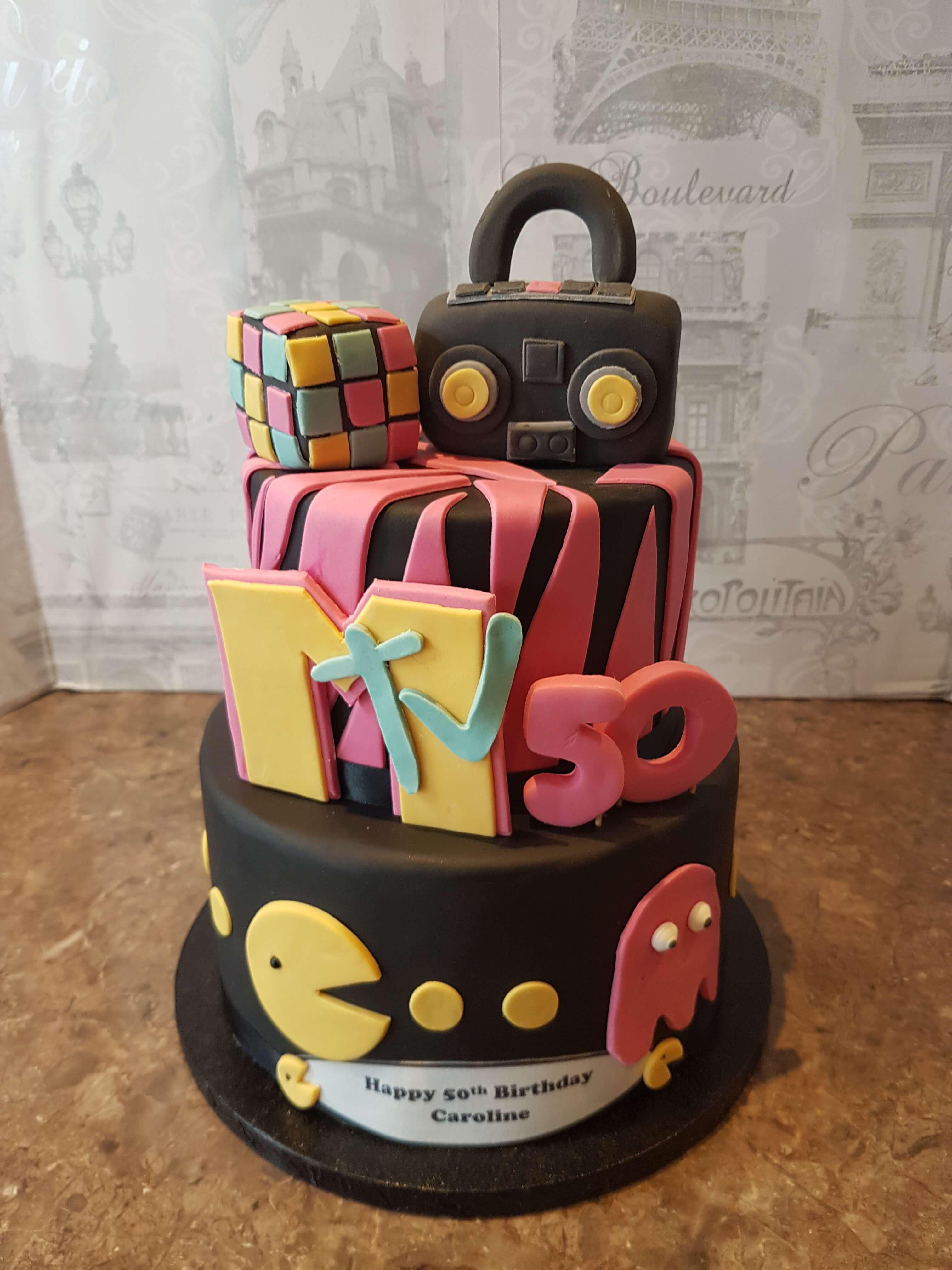 M-TV Funky Birthday Cake