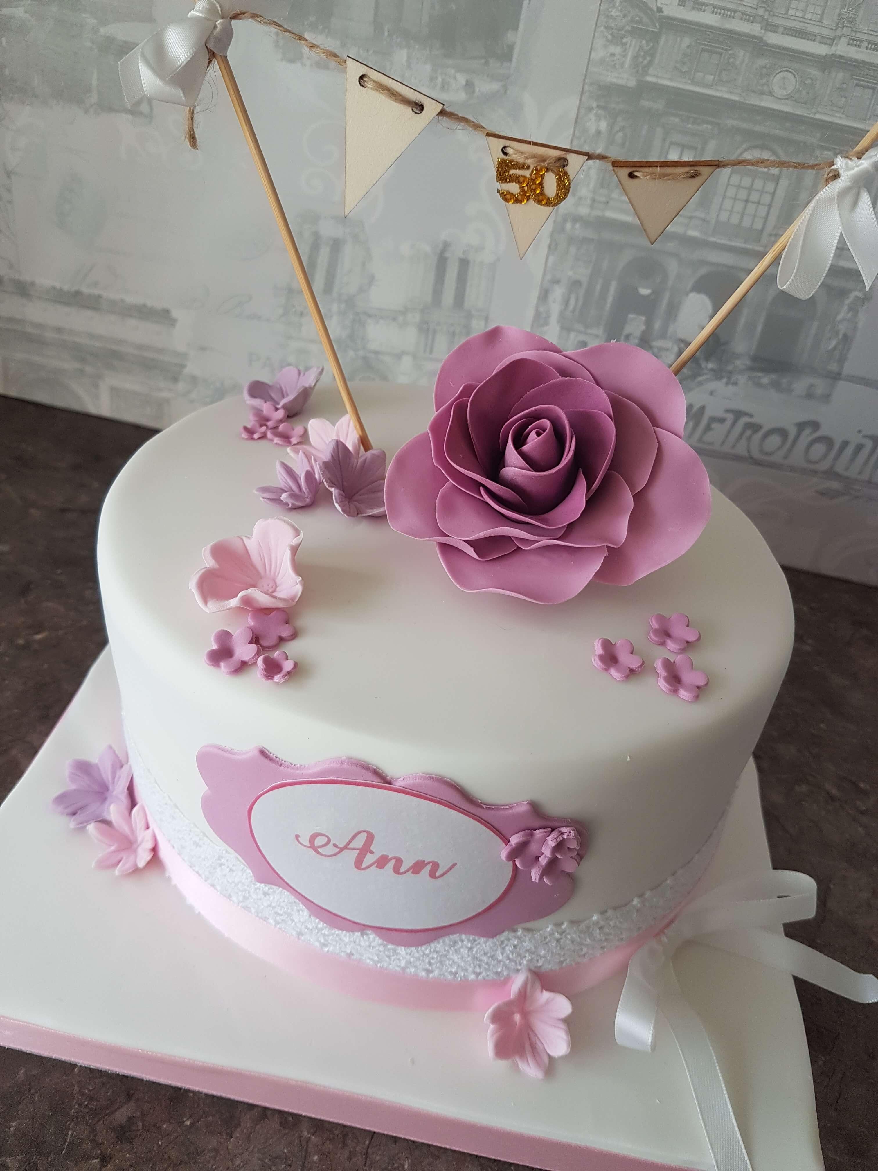 Lovely Iced Birthday Cake