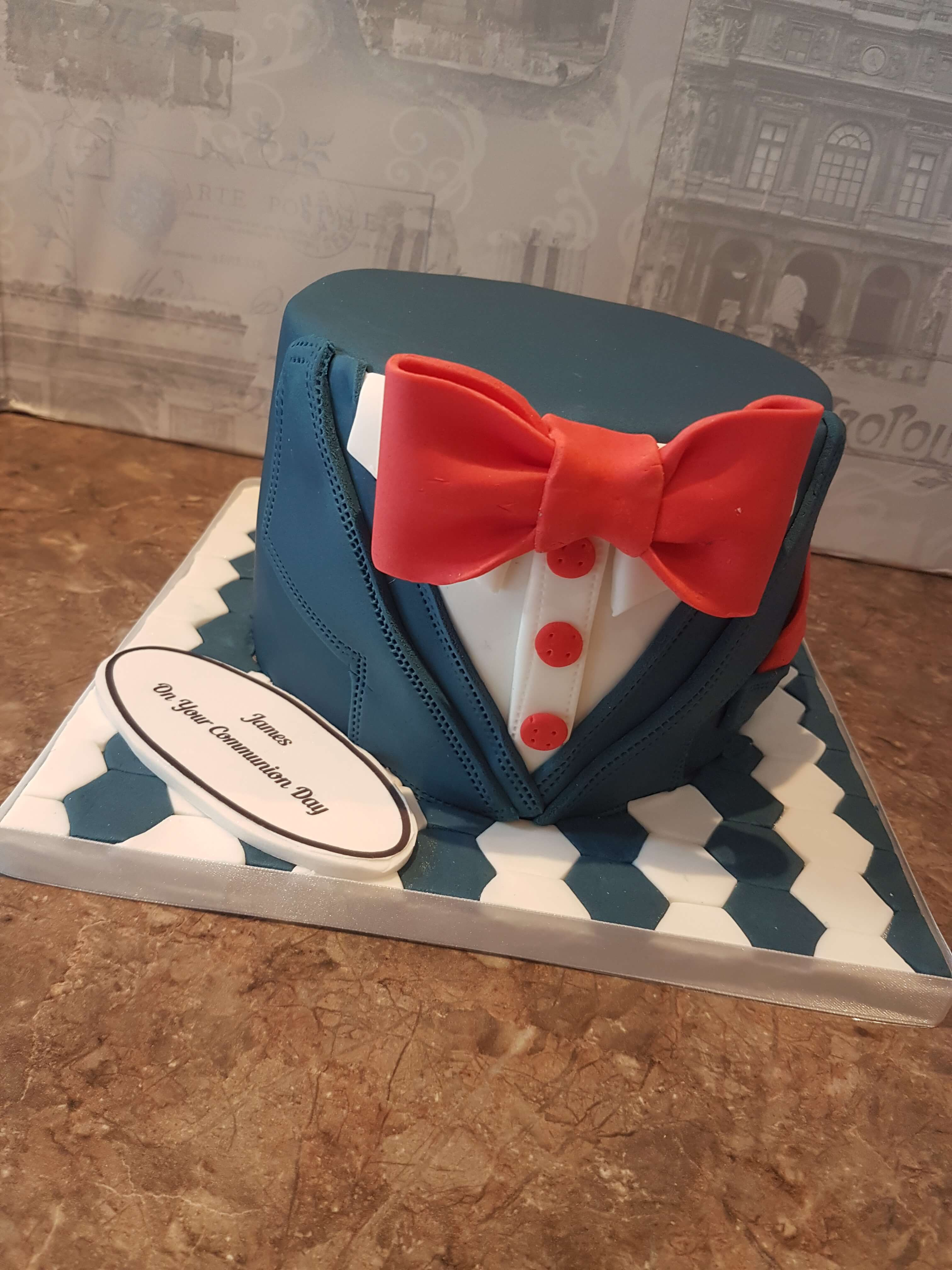 Dapper Communion Cake