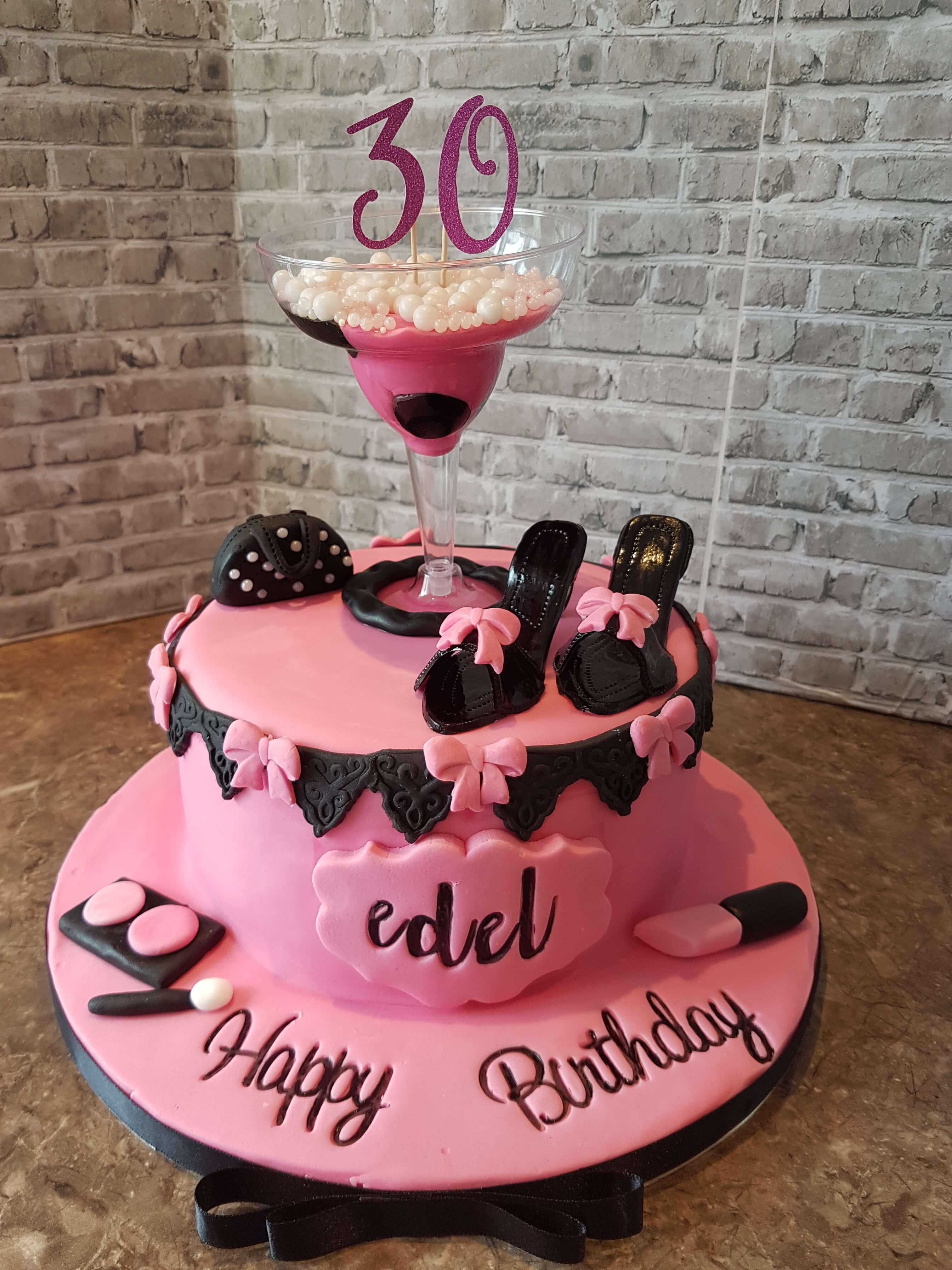 Fab & Glam Happy Birthday Cake