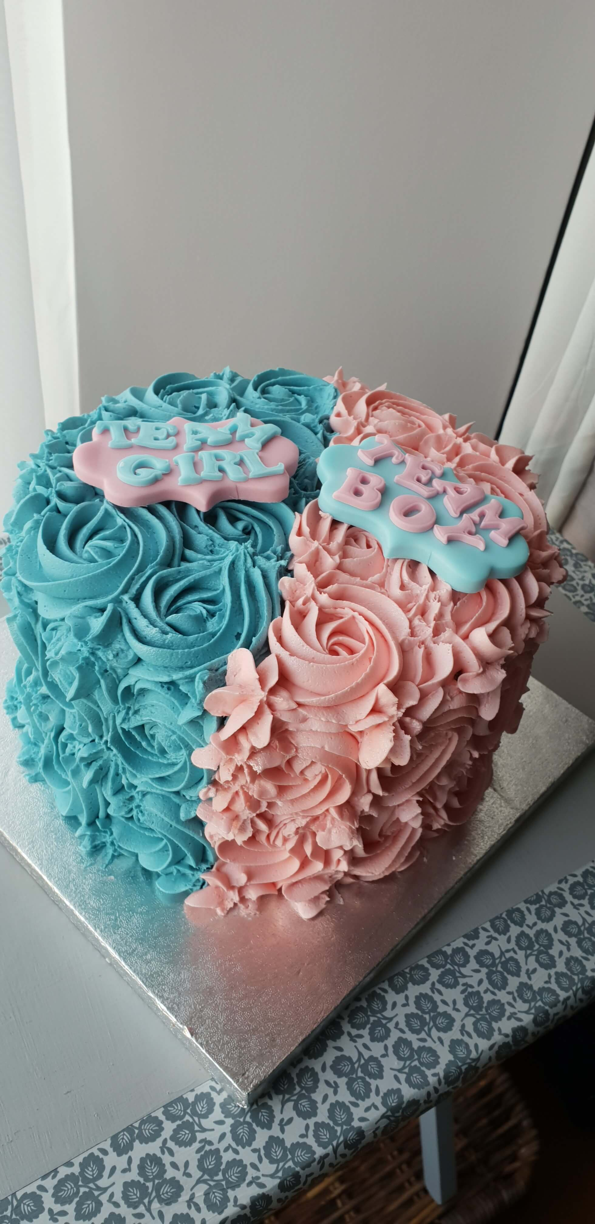 Fab Gender Reveal Cake